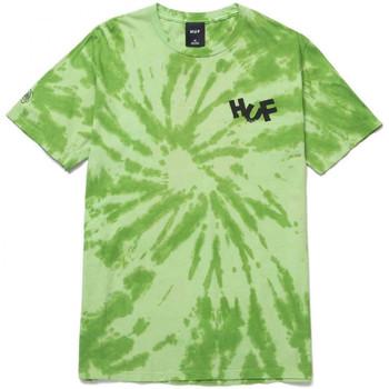 textil Herr T-shirts & Pikétröjor Huf T-shirt haze brush tie dye ss Grön