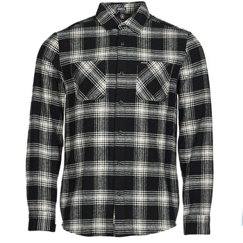 textil Herr Långärmade skjortor Volcom TONE STONE L/S Svart