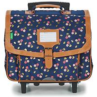 Väskor Flickor Skolväskor på hjul Tann's ALEXA TROLLEY CARTABLE 38 CM Marin
