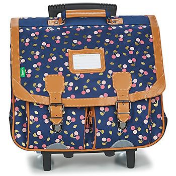 Väskor Flickor Skolväskor på hjul Tann's ALEXA TROLLEY CARTABLE 41 CM Marin