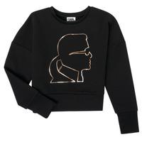 textil Flickor Sweatshirts Karl Lagerfeld CORNALINE Svart