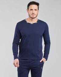 textil Herr Långärmade T-shirts Polo Ralph Lauren CREEW SLEEP TOP Marin