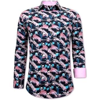 textil Herr Långärmade skjortor Tony Backer  Rosa