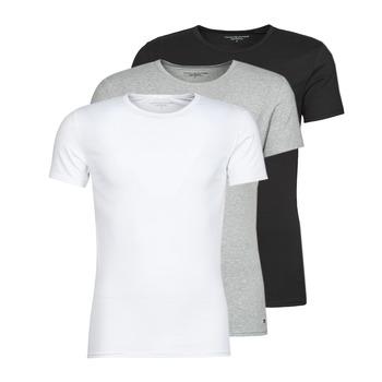 textil Herr T-shirts Tommy Hilfiger STRETCH TEE X3 Vit / Grå / Svart