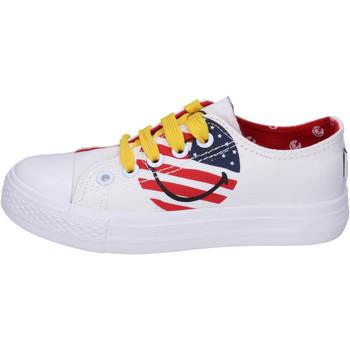 Skor Pojkar Sneakers Smiley  Vit
