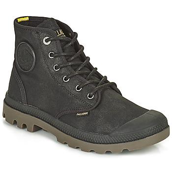 Skor Boots Palladium PAMPA CANVAS Svart