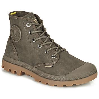 Skor Boots Palladium PAMPA CANVAS Brun