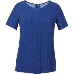 textil Dam Blusar Brook Taverner Crepe De Chine Kungligt blå/marint