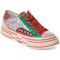 Skor Dam Sneakers Rebecca White T2208  Rebecca White  D??msk?? st???brn??/?erven??/zelen?? t?pytiv?? t