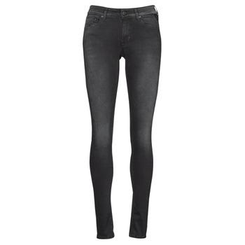 textil Dam Skinny Jeans Replay LUZIEN Svart