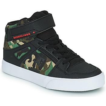 Skor Pojkar Höga sneakers DC Shoes PURE HIGH-TOP EV Svart / Kamouflage