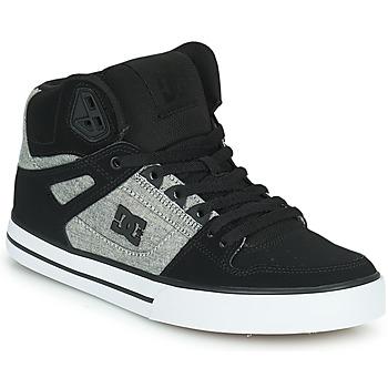 Skor Herr Höga sneakers DC Shoes PURE HIGH-TOP WC Svart / Grå