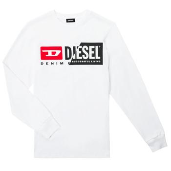 textil Barn Långärmade T-shirts Diesel TDIEGOCUTY ML Vit