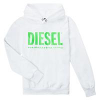 textil Barn Sweatshirts Diesel SDIVISION LOGOX OVER Vit