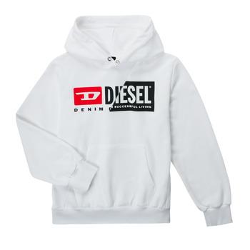 textil Barn Sweatshirts Diesel SGIRKHOODCUTYX OVER Vit