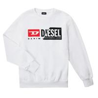 textil Barn Sweatshirts Diesel SGIRKCUTY OVER Vit