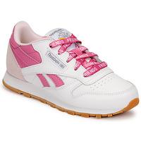 Skor Barn Sneakers Reebok Classic CL LTHR Vit / Rosa