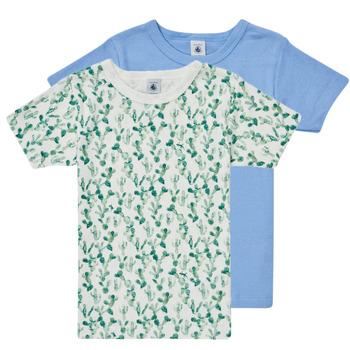 textil Pojkar T-shirts Petit Bateau LOLITA Flerfärgad