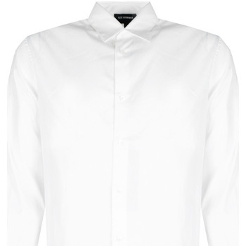 textil Herr Långärmade skjortor Les Hommes  Vit