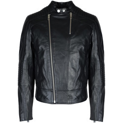 textil Herr Skinnjackor & Jackor i fuskläder Les Hommes  Svart