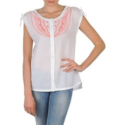 textil Dam Kortärmade skjortor Antik Batik AYLA Vit