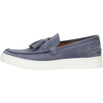Skor Herr Loafers Made In Italia 080CAMOSCIO Light blue