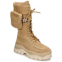 Skor Dam Boots Bronx JAXSTAR HIGH Beige