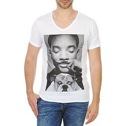 textil Herr T-shirts Eleven Paris WOLY M Vit