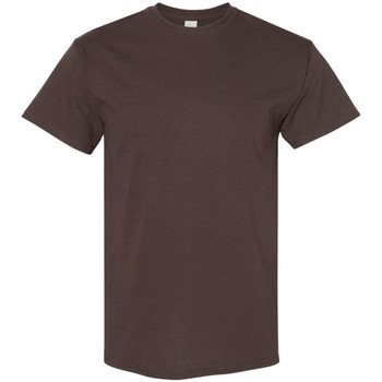 textil Herr T-shirts Gildan 5000 Mörk choklad