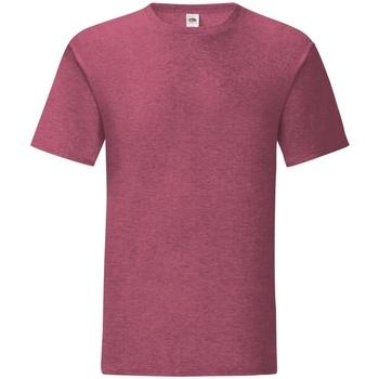 textil Herr T-shirts Fruit Of The Loom 61430 Lätt vinröd