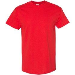 textil Herr T-shirts Gildan 5000 Röd