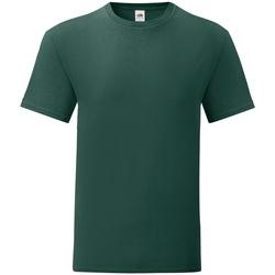 textil Herr T-shirts Fruit Of The Loom 61430 Skogsgrön