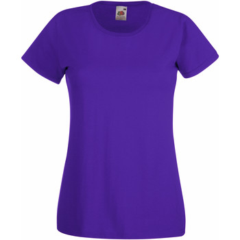 textil Dam T-shirts Fruit Of The Loom 61372 Lila