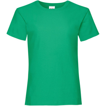 textil Flickor T-shirts Fruit Of The Loom 61005 Kelly Green