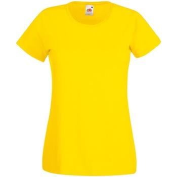 textil Dam T-shirts Fruit Of The Loom 61372 Gul
