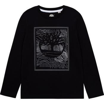 textil Pojkar Långärmade T-shirts Timberland AIFRET Svart