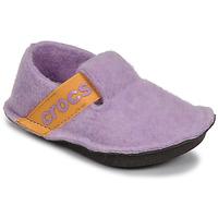 Skor Flickor Tofflor Crocs CLASSIC SLIPPER K Violett / Gul