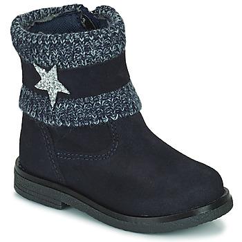 Skor Flickor Boots Citrouille et Compagnie PASTEK Marin