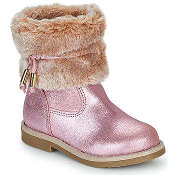 Skor Flickor Boots Citrouille et Compagnie PAKRETTE Rosa / Skimrande