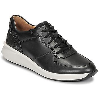 Skor Dam Sneakers Clarks UN RIO SPRINT Svart