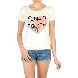 textil Dam T-shirts Manoush TEE SHIRT VALENTINE Benvit