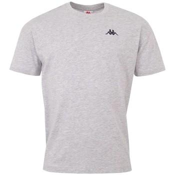 textil Herr T-shirts Kappa Veer T-Shirt Grise