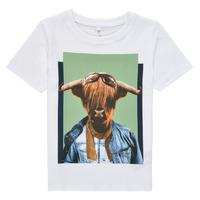 textil Pojkar T-shirts Name it NMMKYLAN SS TOP Vit