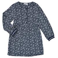 textil Flickor Korta klänningar Name it NKFKARINFRA LS DRESS Marin