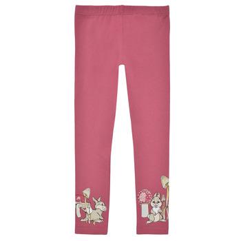 textil Flickor Leggings Name it NMFTHUMPER ENGLA LEGGINGS Rosa