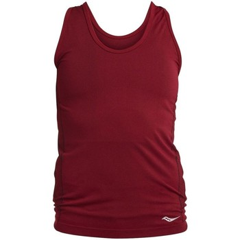 textil Dam Linnen / Ärmlösa T-shirts Saucony SAW800099 Rödbrunt
