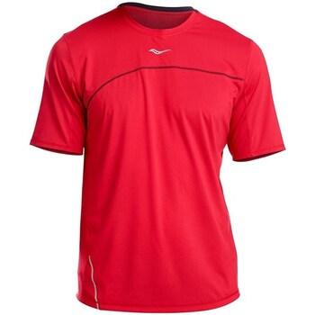 textil Herr T-shirts Saucony SAM800214 Röda