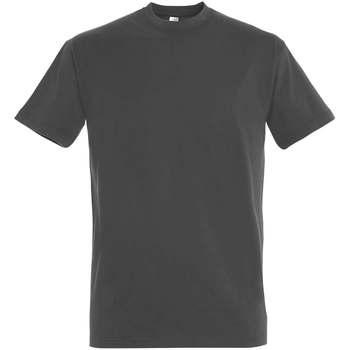 textil Dam T-shirts Sols IMPERIAL camiseta color Gris Oscuro Gris