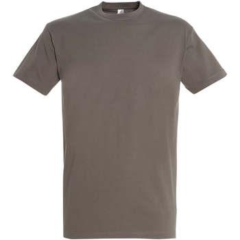 textil Dam T-shirts Sols IMPERIAL camiseta color Zinc Gris