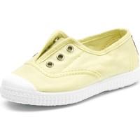 Skor Barn Tennisskor Cienta Chaussures en toiles  Tintado jaune pastel